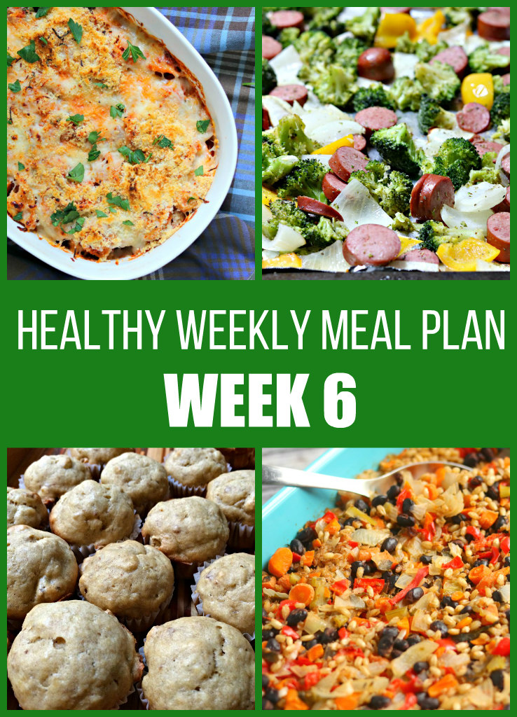 Healthy Weekly Meal Plan {Week Six}