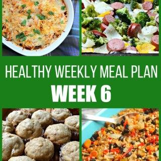 healthy weekly meal plan week 6