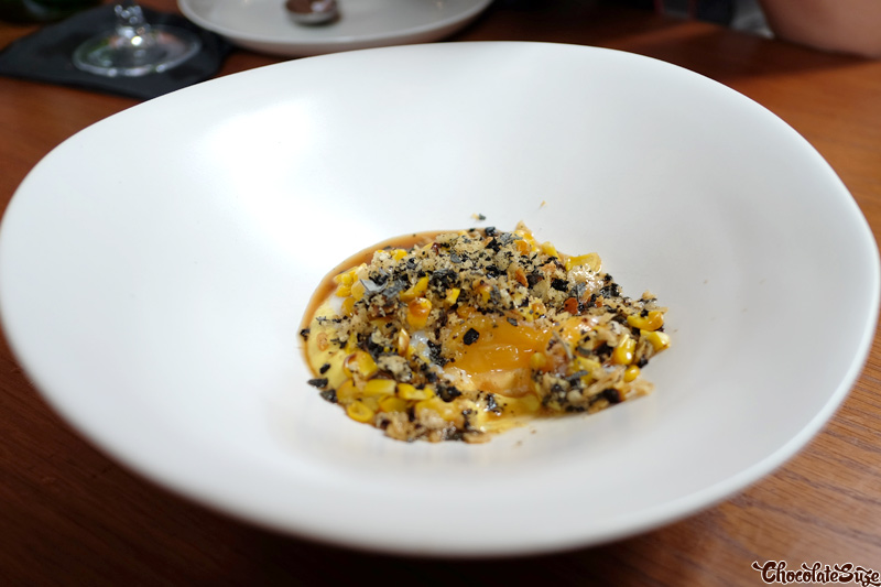 Slow cooked organic hen' s egg at Kensington St Social, Chippendale