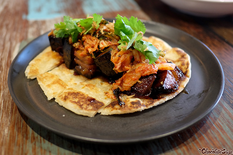 Roti Paratha with Chilli Caramel Pork Belly at Yang & Co, Castlecrag