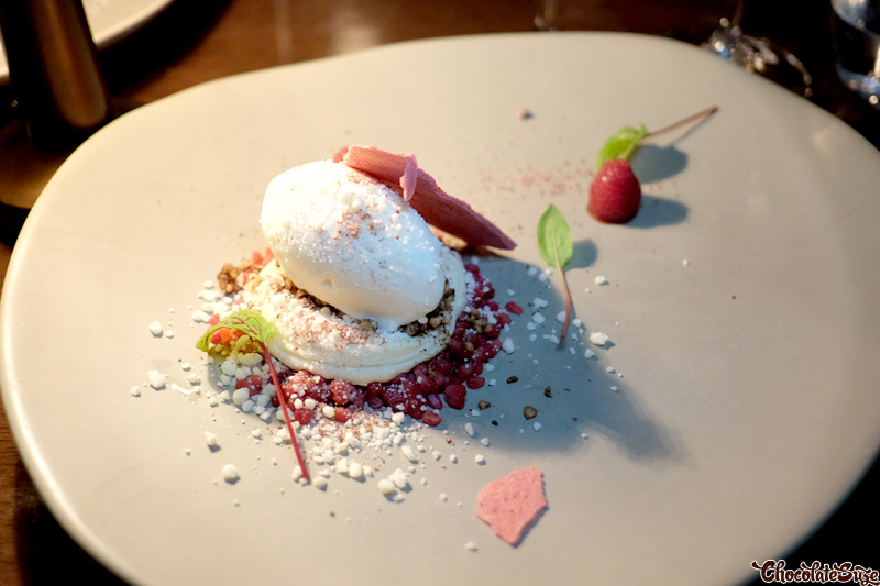 Buckwheat sorbet, white chocolate and coffee cream at Muse Dining, Pokolbin