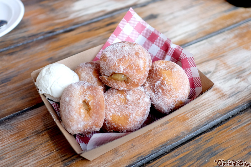 Smoked banana and salted caramel donuts at Bluebonnet Barbecue, North Fitzroy