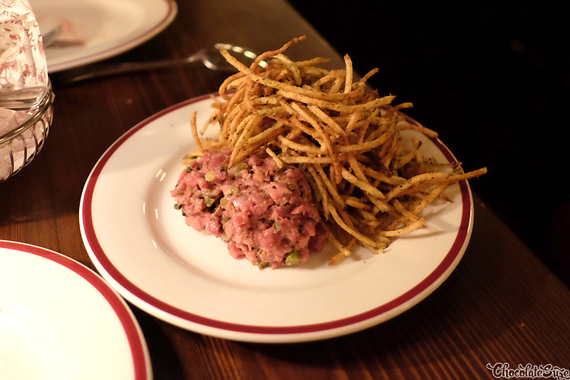 Steak Tartare at Restaurant Hubert, Sydney