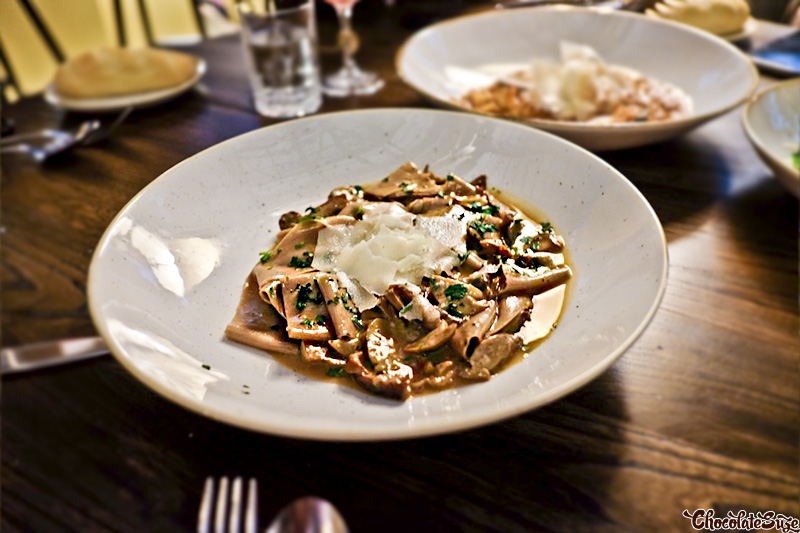 Chestnut Pappardelle at Bar Machiavelli, Rushcutters Bay