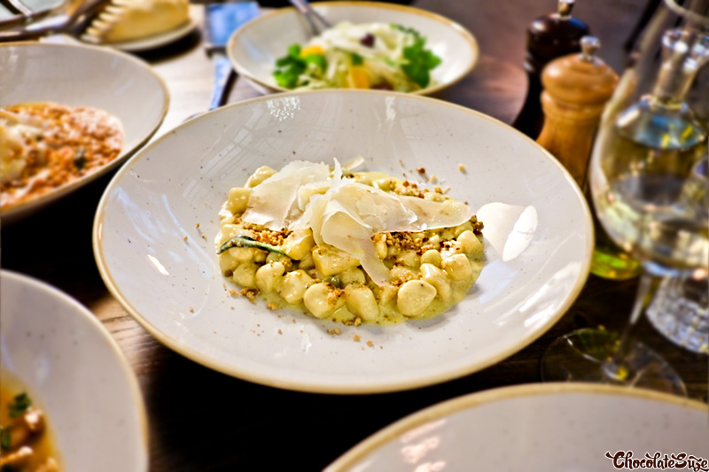 Gnocchetti with Roquefort, Gorgonzola dolce and caramelised walnuts at Bar Machiavelli, Rushcutters Bay