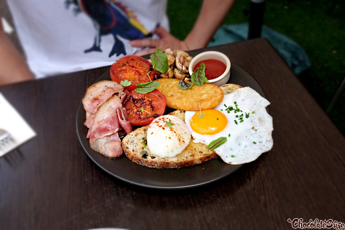 Big Breakfast at Double Cross Espresso Bar, Crows Nest