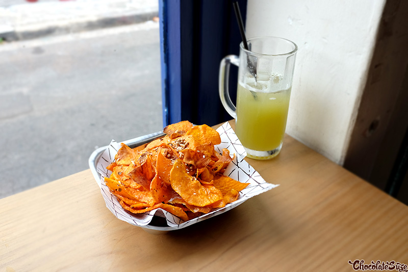 Sweet potato chips at Cairo Takeaway, Enmore