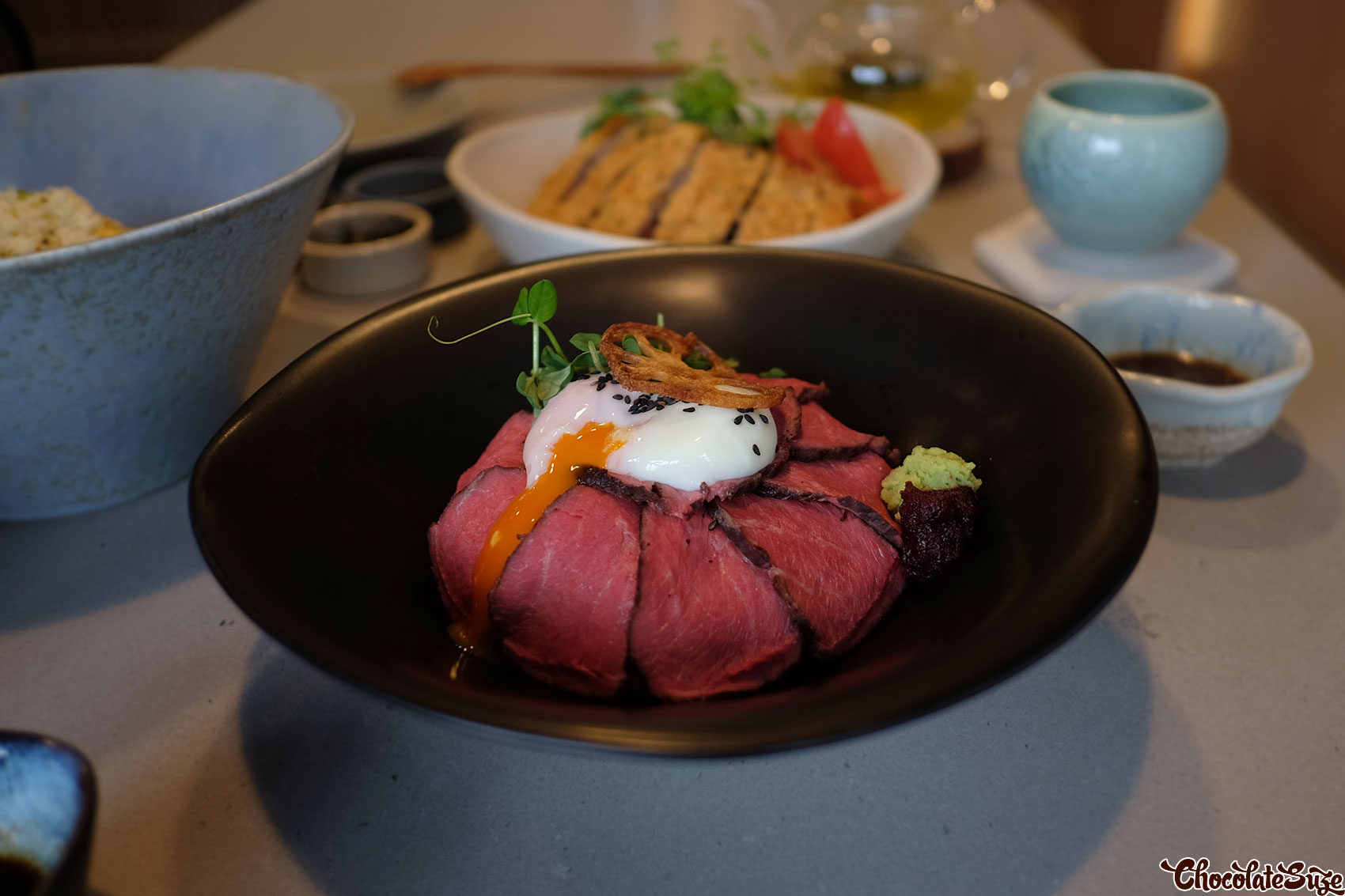 Wagyu rice bowl at Juan - Bowl and Tea, Redfern