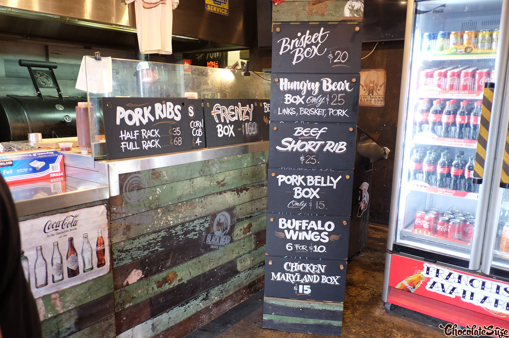 Menu at Black Bear BBQ, Blacktown