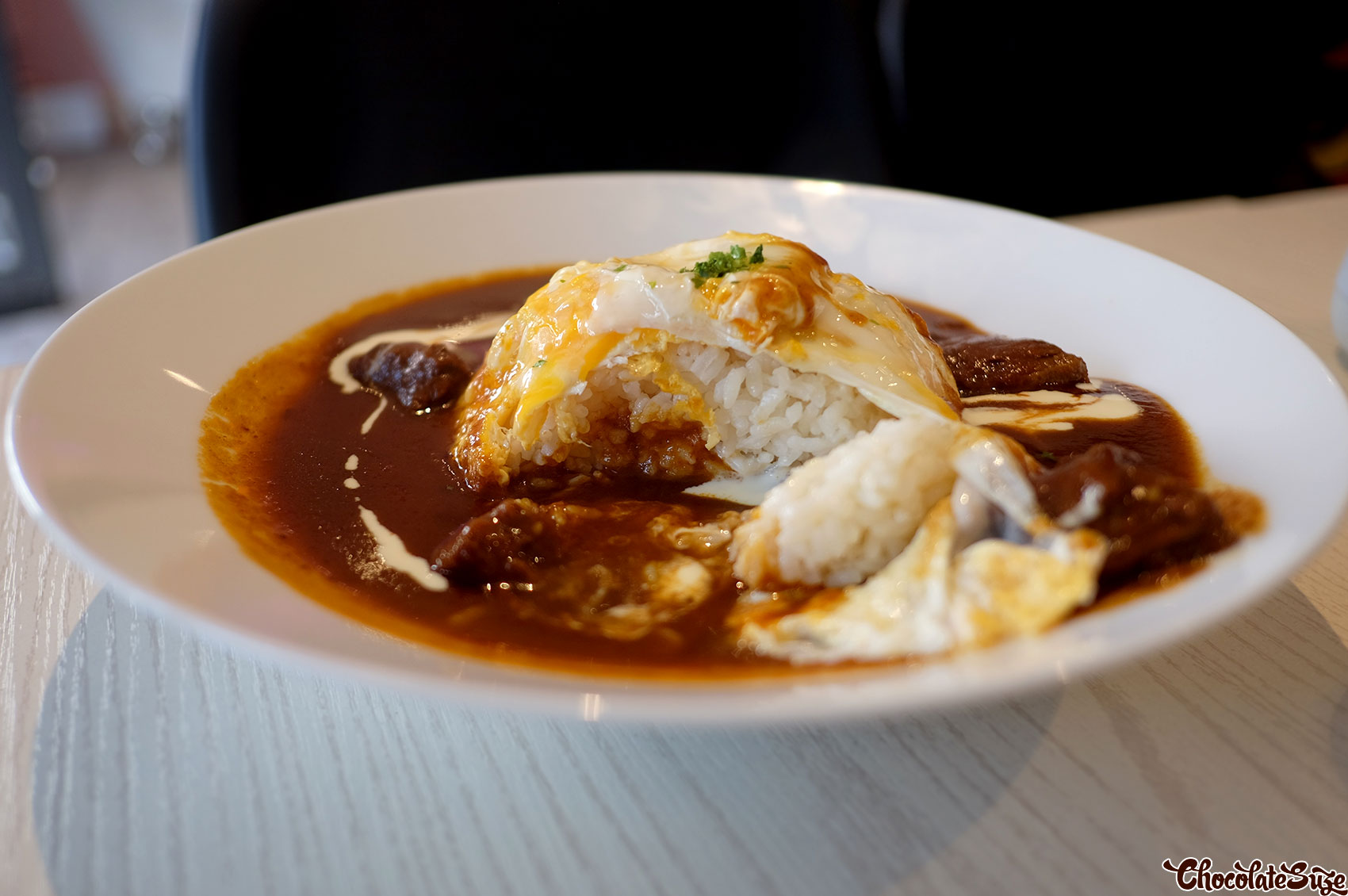 Demi glace omurice at Moka, Beaconsfield