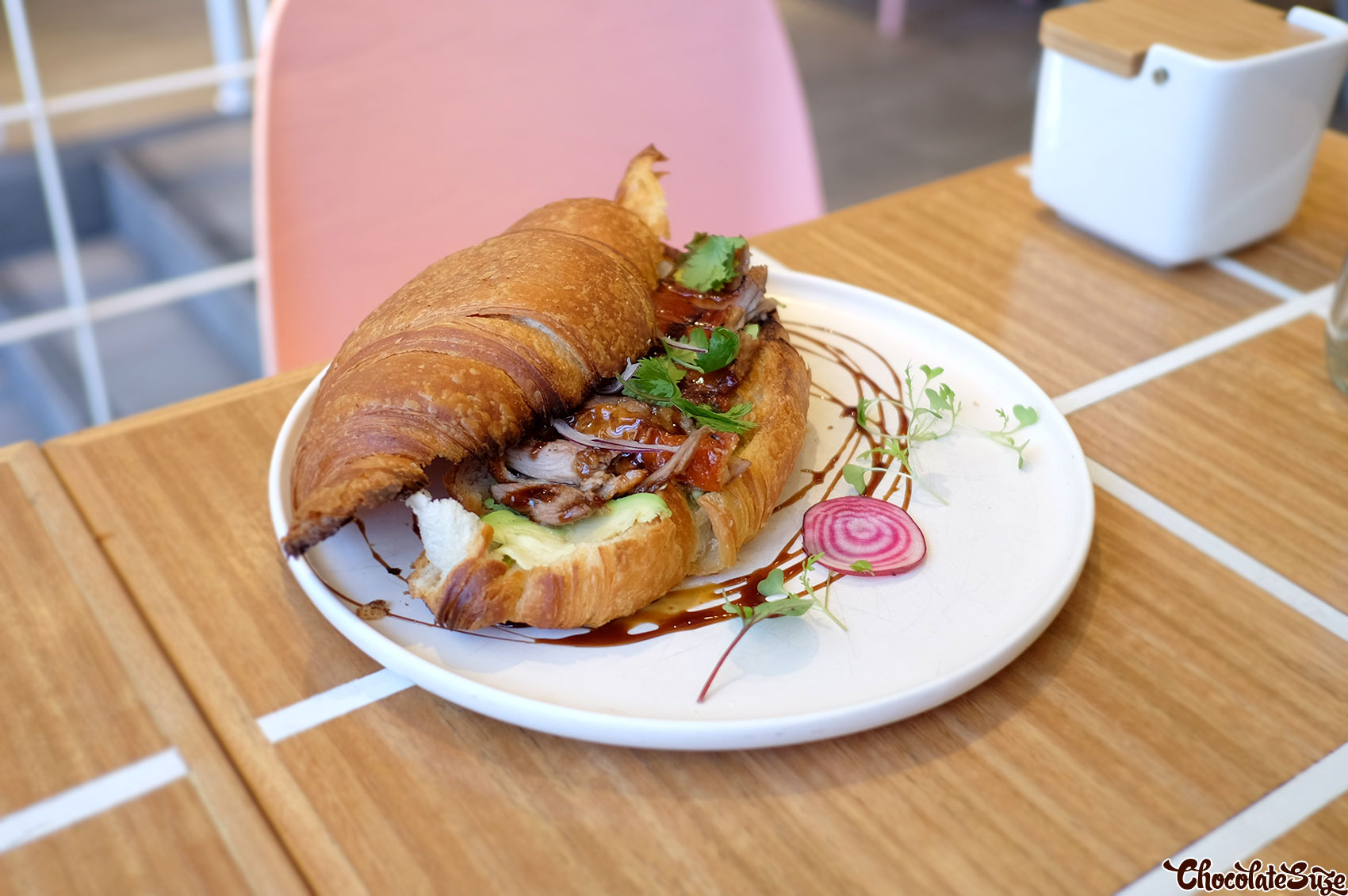 Duck Croissant at Cafe 0.6, Alexandria