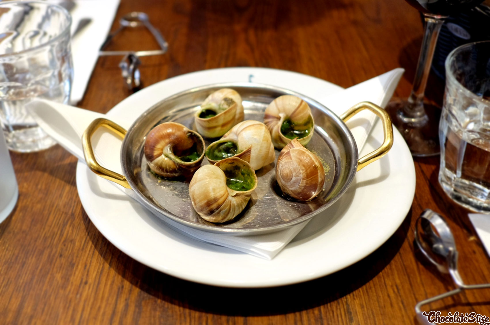 Bourgogne snails at Le Comptoir de la Gastronomie, Paris