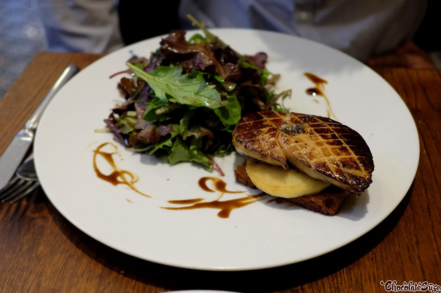 Pan seared foie gras with gingerbread at Le Comptoir de la Gastronomie, Paris