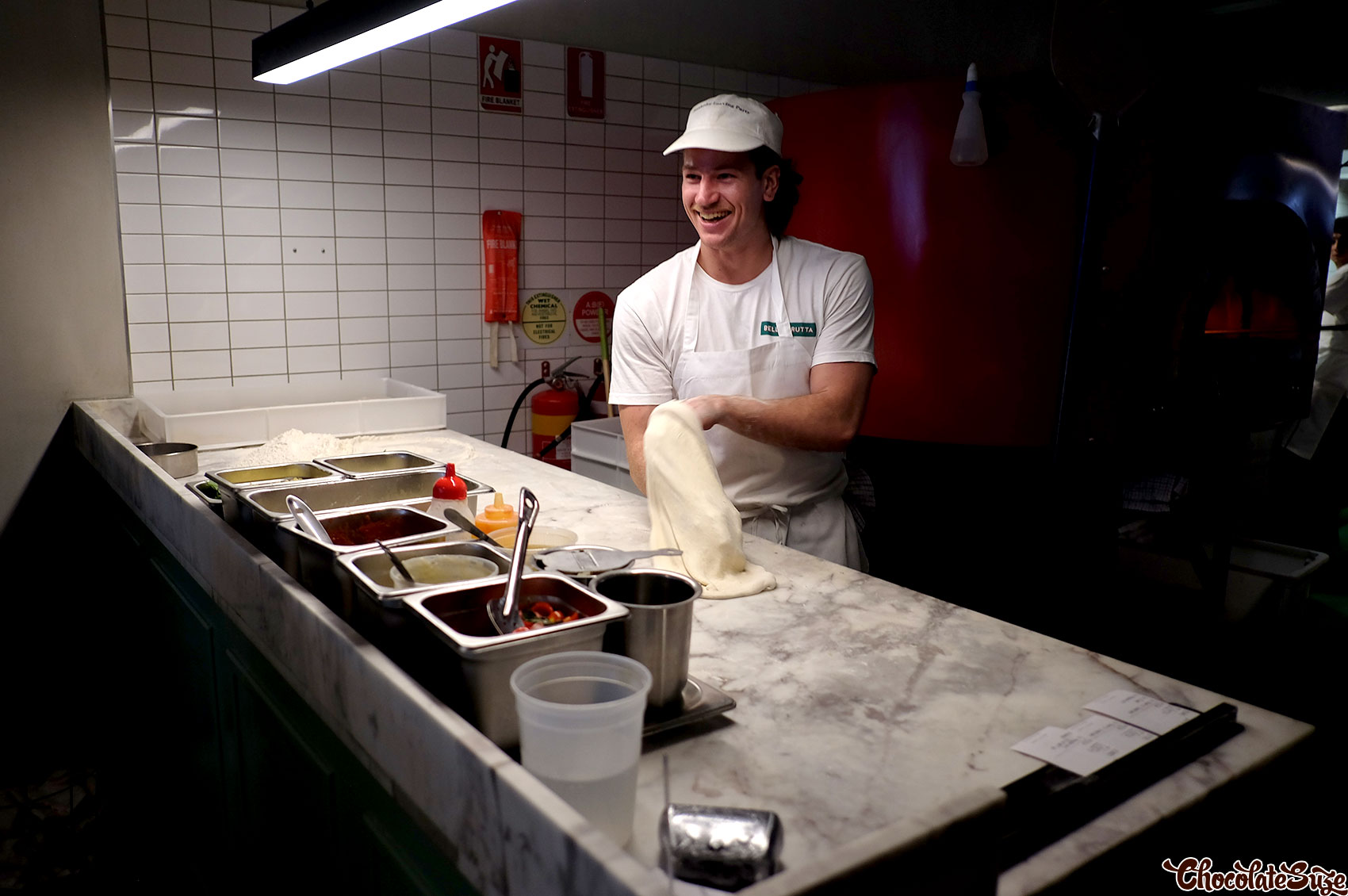 Pizza making at Bella Brutta, Newtown