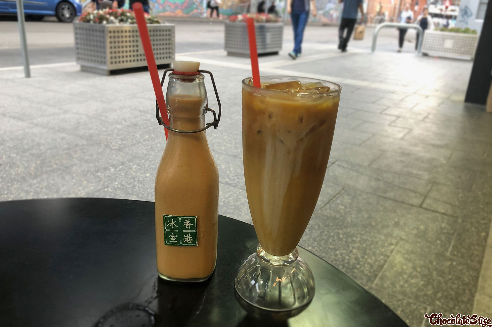 Milk tea at Hong Kong Bing Sutt, Burwood