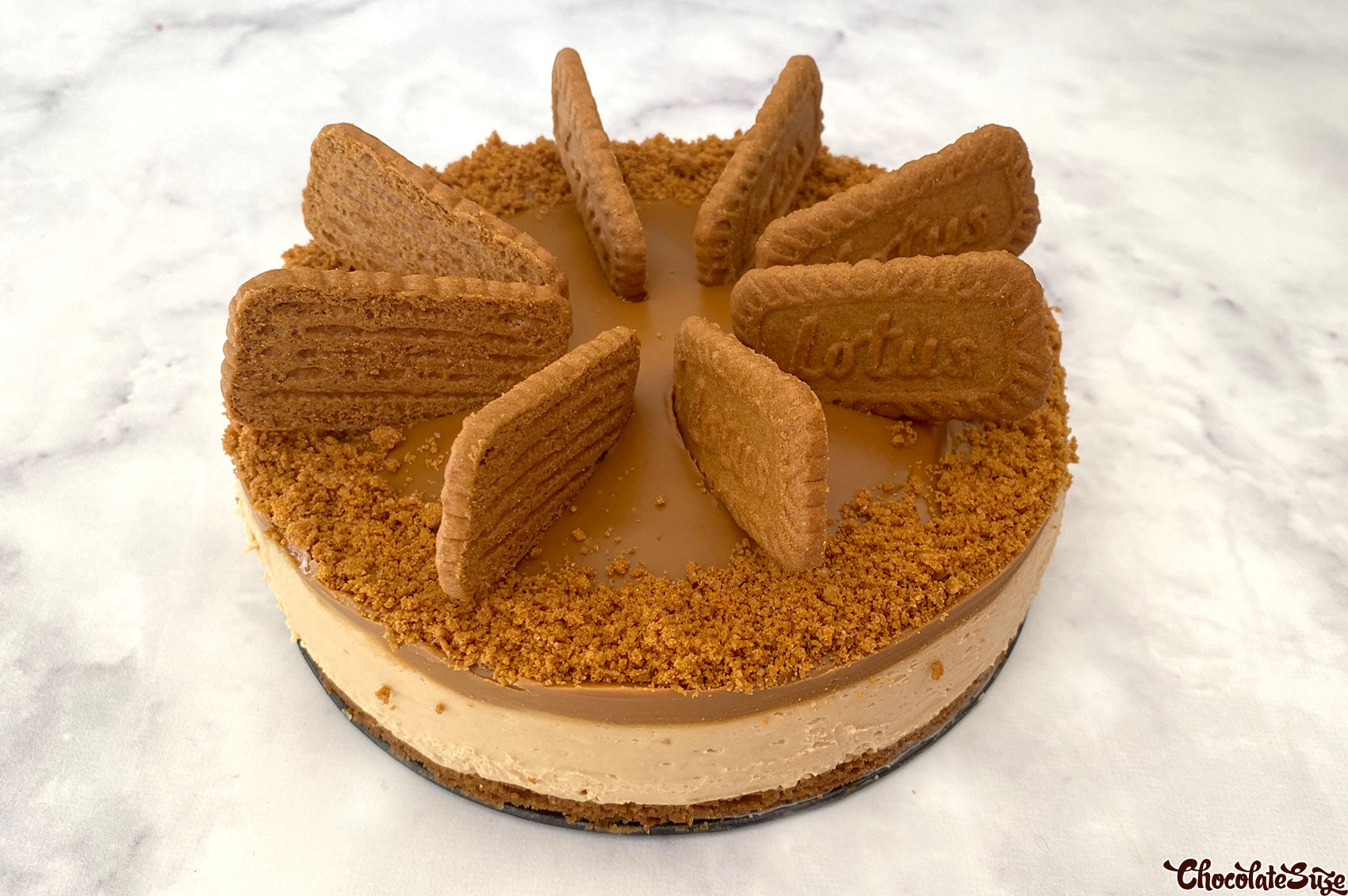 No bake lotus biscoff cheesecake