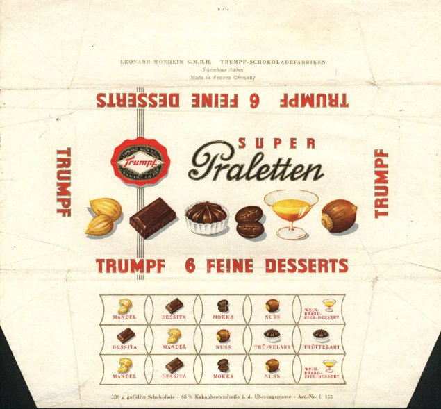 German Chocolate Wrappers Trumpf