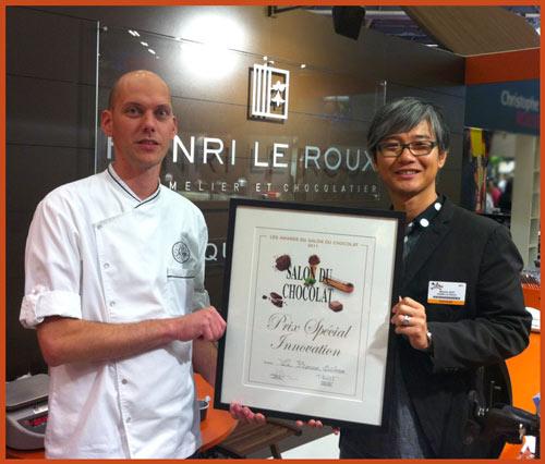 Award De LInnovation 2011 Maison Le Roux Chocolatier Et