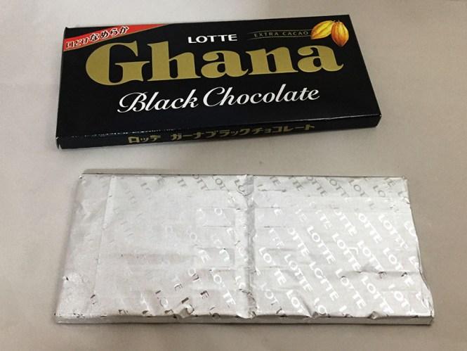 『ロッテ』の「ガーナブラックチョコレート」銀紙