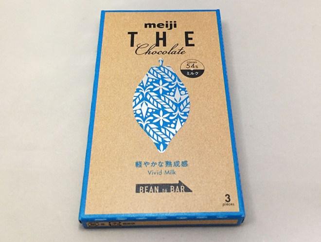 『明治』の「ザ・チョコレート軽やかな熟成感ビビッドミルク」爽やかな水色