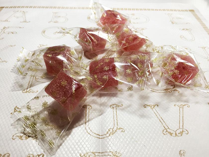 『杉本屋』の「ぷるもっち ぶどう味」個包装