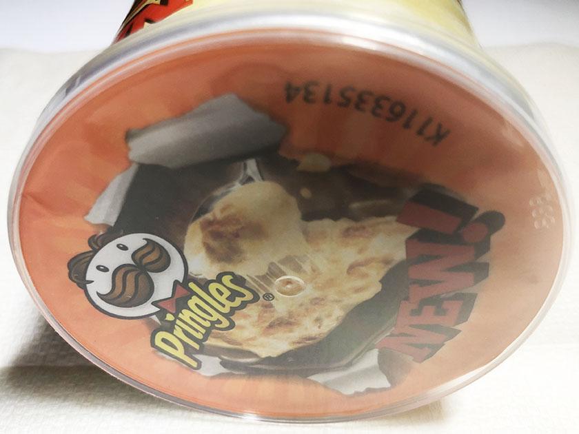『プリングルス』のポテトチップス「チーズグラタン」ここにも写真入り
