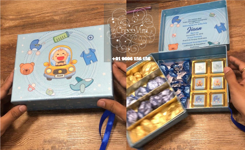 premium chocolate boxes for baby birth announcements in india