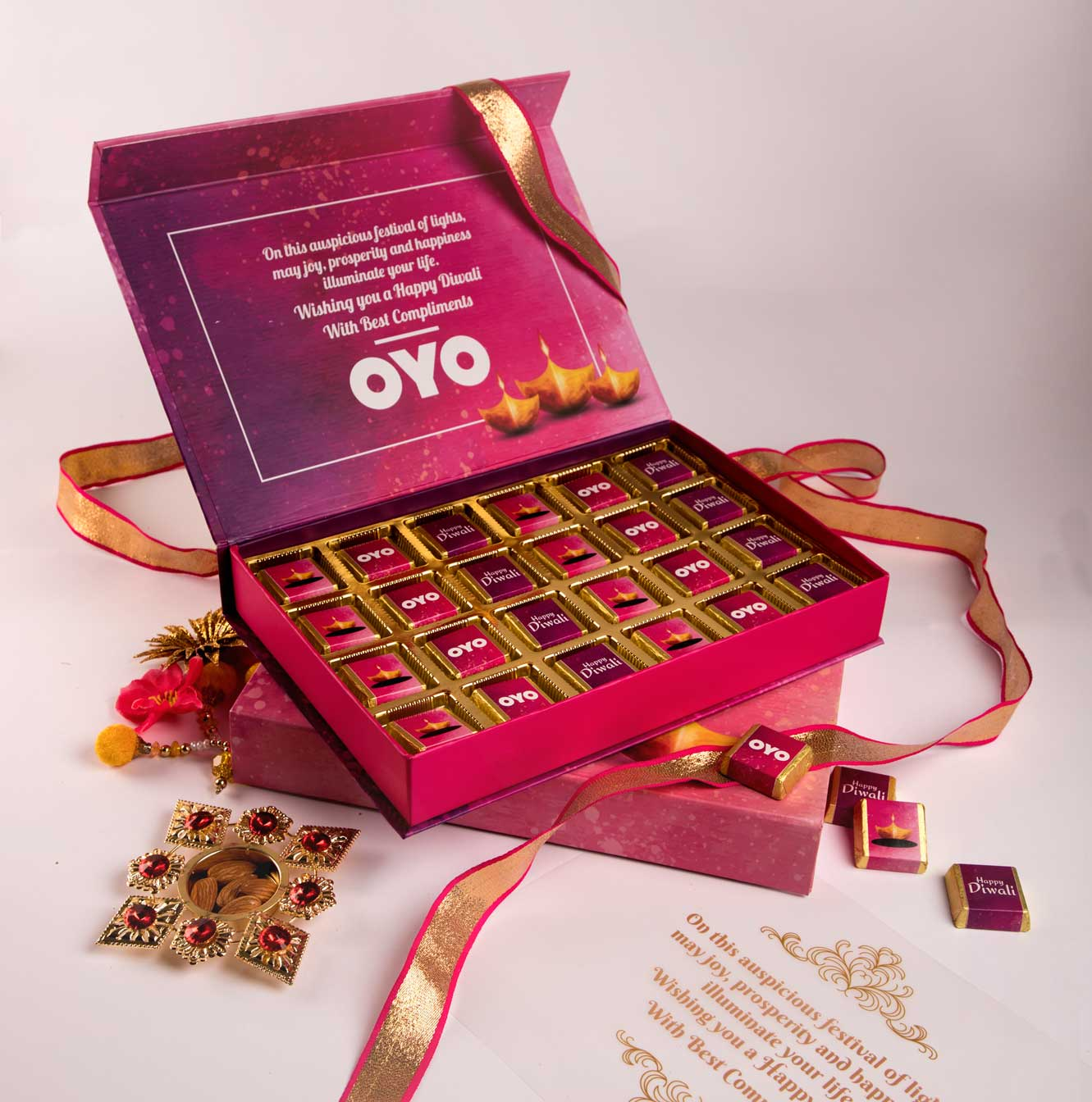 Customised logoprinted chocolates for Corporate Diwali Gifts