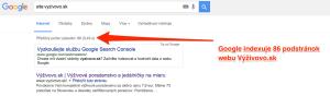 Indexovanie podstránok - Google