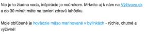 Úryvok z e-mailu