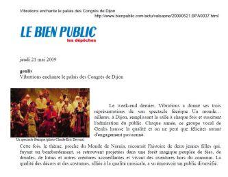 Bien Public 2009-05-21
