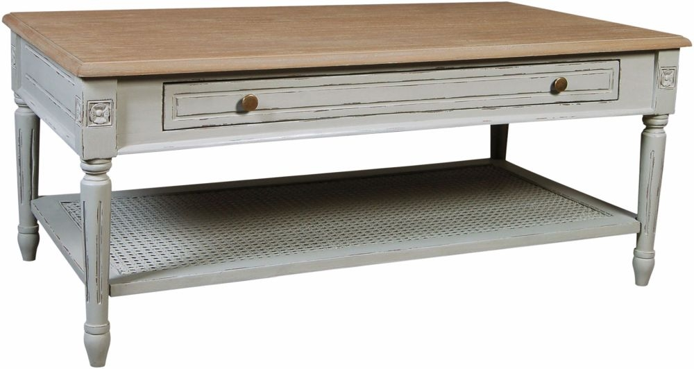 charlotte french distressed stone grey coffee table cfs furniture uk