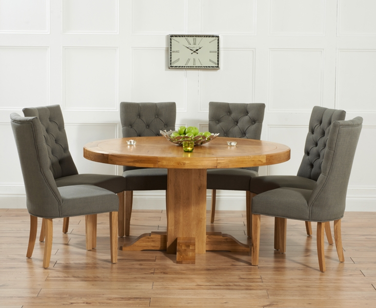 Buy Mark Harris Turin Solid Oak 150cm Round Dining Table