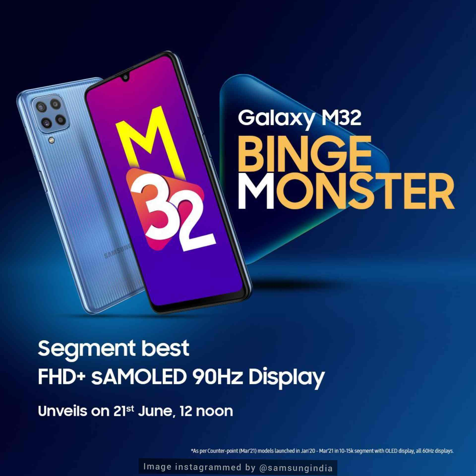 Samsung <a href='https://newsmaker.tribunnews.com/tag/galaxy-m32' title='Galaxy M32'>Galaxy M32</a> will be launched in India on June 21, specifications and  price revealed - choicethenoise