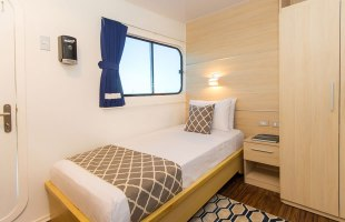 Simple cabin on Solaris Yacht