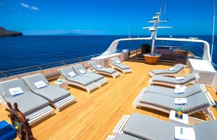 Galapagos cruise Odyssey Yacht terrace