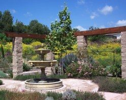 A private fountain garden