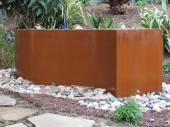 cor-ten steel fountain left to rust naturally