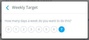 8 Weekly Target
