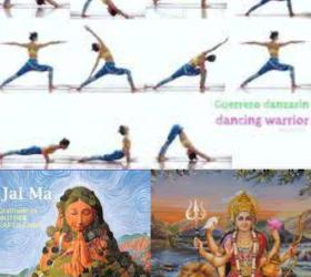 Vinyasa Yoga Class, lesson plan Class 5: Sun salutation A, Dancing Warrior, I am strong