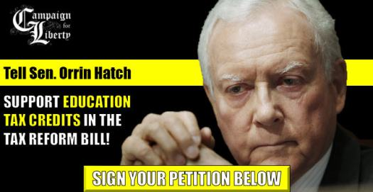 Tell Sen. Hatch to support eduction tax credits