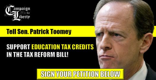Tell Sen. Pat Toomey to support eduction tax credits