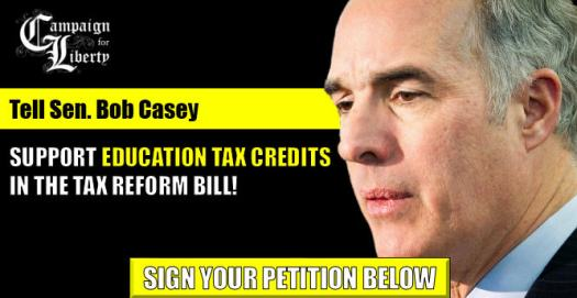 Tell Sen. Casey to support eduction tax credits