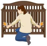 Does It Have An Adjule Mattress Platform Woman Adjusting The Baby Crib Height