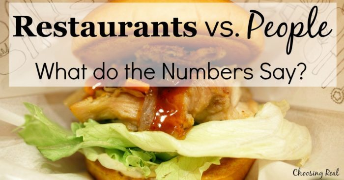 Have you ever wondered how many restaurants there are in this country compared to the number of people?
