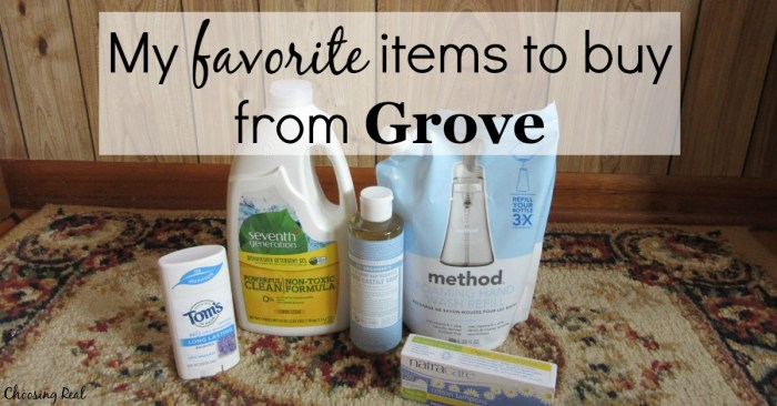 I use Grove Collaborative for safer products for my family, the great customer service, and simply the convenience. Discover 5 items I regularly buy from Grove.