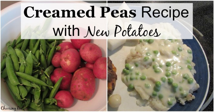 The first batch of creamed peas and new potatoes from our garden each spring was always a celebrated event in my house growing up.