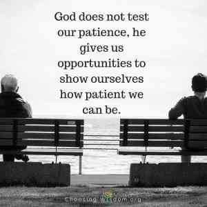 What Does Practicing Patience Teach Us?