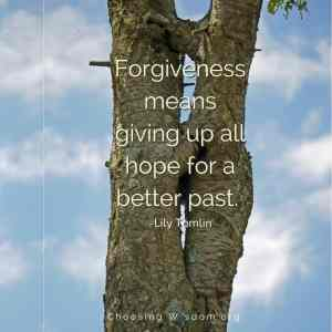 Forgiving means giving up all hope for a better past. - Lilly Tomlin
