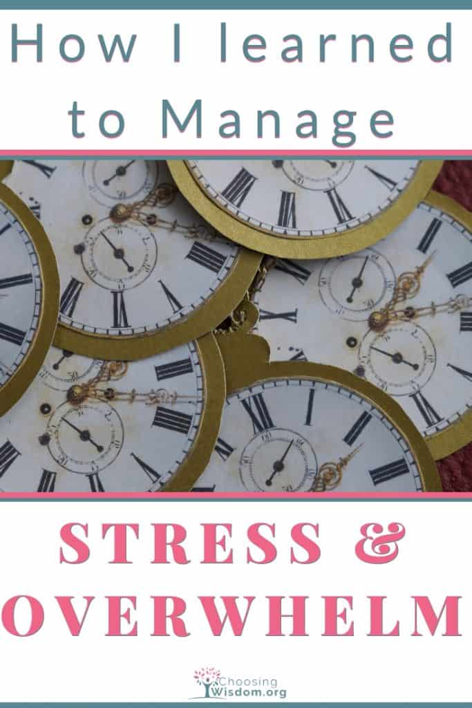Stress with Clocks showing different time